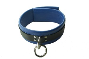Collar Leather Blk/Blue