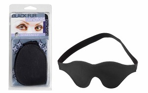 Blindfold Black Fur