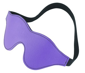 CLASSIC BLINDFOLD with PURPLE FUR