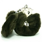 Love Cuffs  Brown Plush