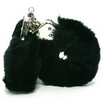 Love Cuffs  Black Plush