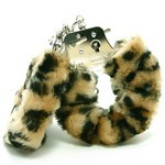 Love Cuffs  Leapord Plush