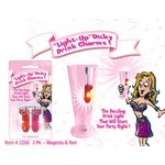 Light Up Dicky Drink Charms. 2pk. Purple & Red