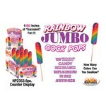 Rainbow Jumbo Cock Pops - Display 6pcs.