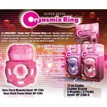 Super Stud Orgasmix Ring. Magenta. Open Stock