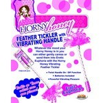 Horny Honey - Feather Tickler with Vibrating Handle