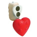 Vibrating Panty Pal ® - Heart - Red