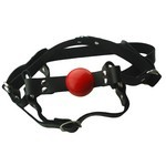 Ball Gag Head harness 1.5 inch Red