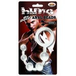Hung - Man Tools Anal Beads. Clear